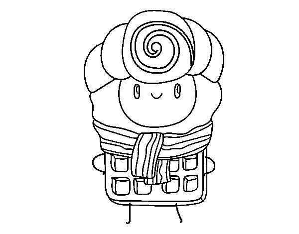 Desenho de Super wafle para Colorir