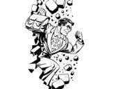 Dibujo de Superhero quebrar uma parede