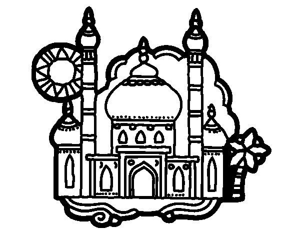 Desenho de Taj Mahal para Colorir