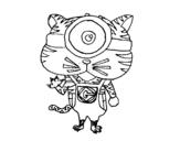 Desenho de Tigre Minion para colorear