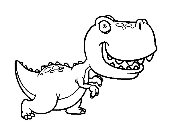Desenho de Tiranossauro para Colorir
