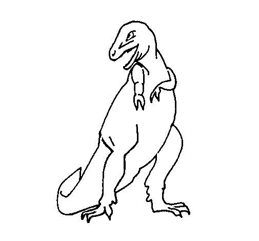 Desenho de Tiranossauro rex para Colorir