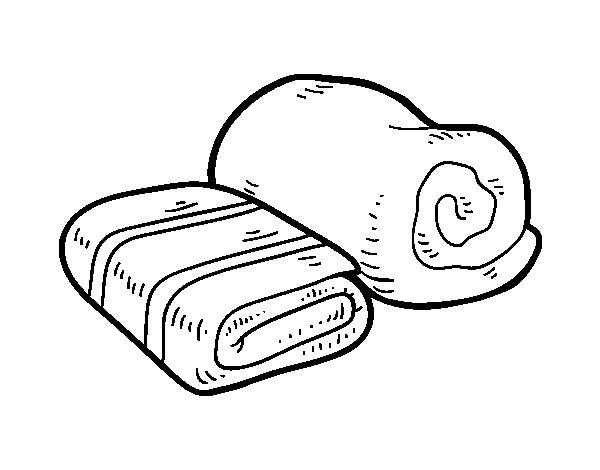 Desenho de Toalhas de banho para Colorir