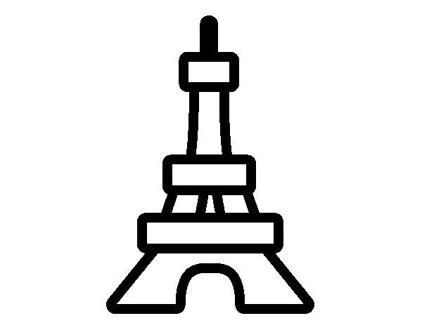 Desenho de Torre para Colorir