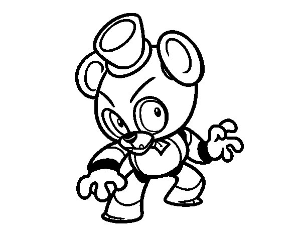 Jeux five nights at freddy coloriage for Etendoir a linge babou