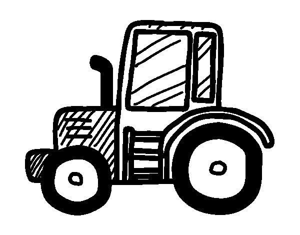 Desenho de Tractor Lamboghini para Colorir