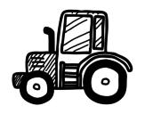 Desenho de Tractor Lamboghini para colorear