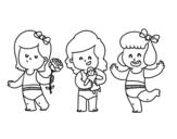 Desenho de Trigêmeos para colorear