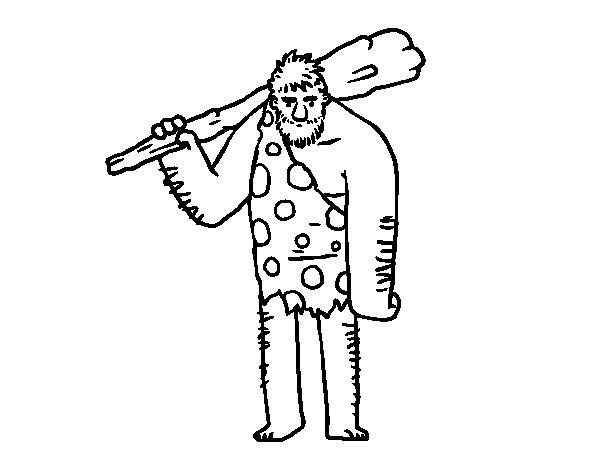 Desenho de Troglodita para Colorir