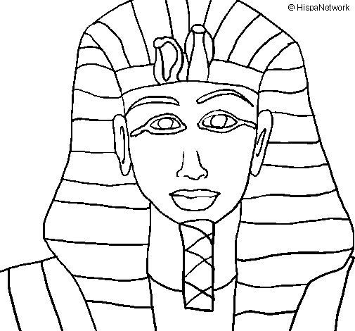 Desenho de Tutankamon para Colorir