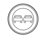 Desenho de Ultrapassagem proibida para colorear