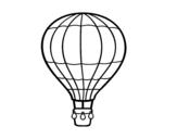 Desenho de Um balão de ar quente para colorear