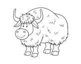 Desenho de Um búfalo para colorear