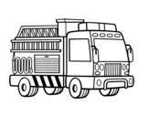Desenho de Um caminhão de bombeiros para colorear
