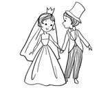 Desenho de Um casamento Real para colorear