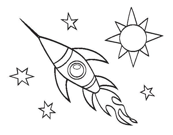 Desenho de Um foguete aeroespacial para Colorir