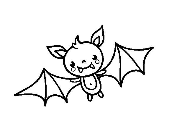Preferência Desenho de Um morcego do Halloween para Colorir - Colorir.com CL16