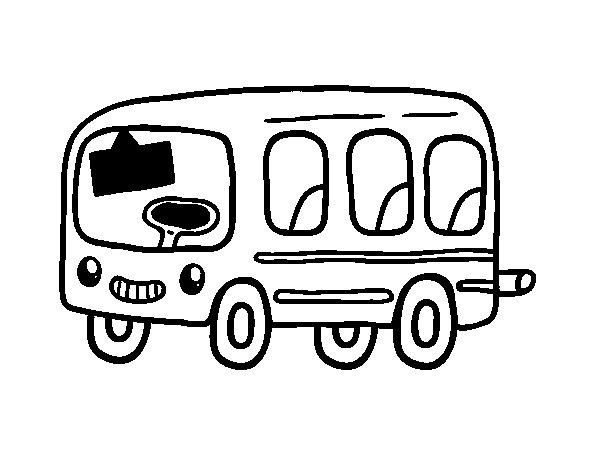 Desenho de Um ônibus escolar para Colorir