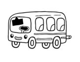 Desenho de Um ônibus escolar para colorear