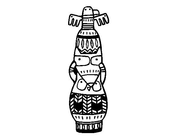 Desenho de Um totem para Colorir