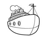 Dibujo de Um transatlântico