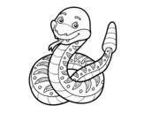 Desenho de Uma cascavel para colorear
