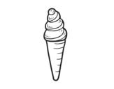 Desenho de Uma casquinha de sorvete para colorear
