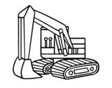 Desenho de Uma escavadora para colorear