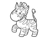 Desenho de Uma zebra africana para colorear