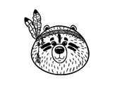 Desenho de Urso índio para colorear