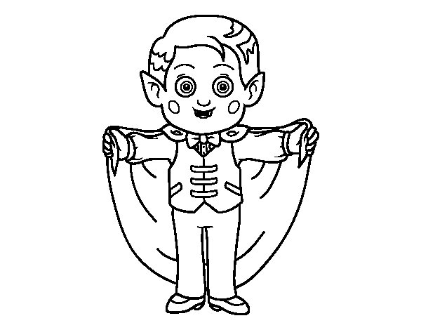 Desenho de Vampiro amigável para Colorir