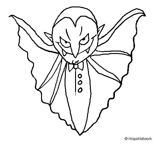 Desenho de Vampiro aterrorizador para Colorir