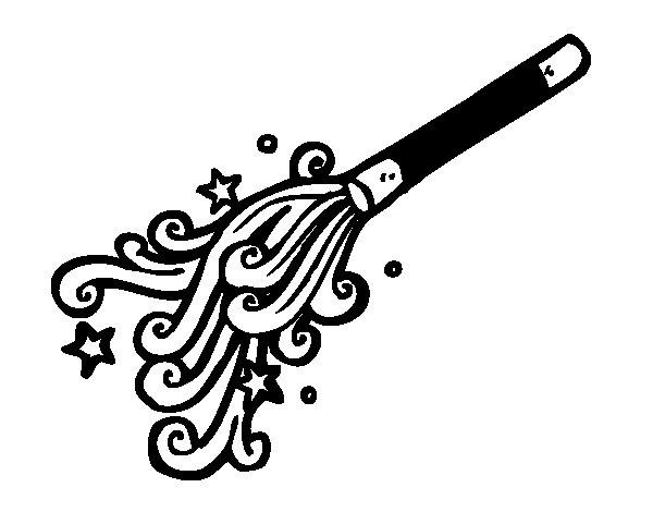 Desenho de Varinha de mago para Colorir