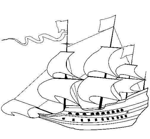 mayflower boat coloring pages - photo#16