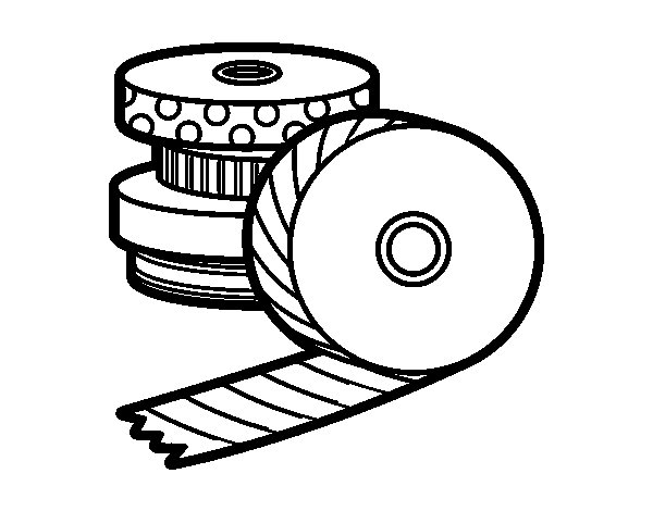 Desenho de Washi Tape para Colorir