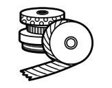 Desenho de Washi Tape para colorear