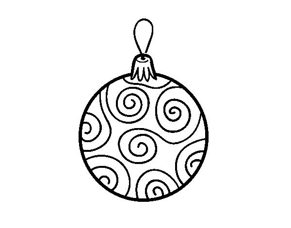 Desenho De Bola Decorada Da Arvore De Natal Para Colorir Colorir Com