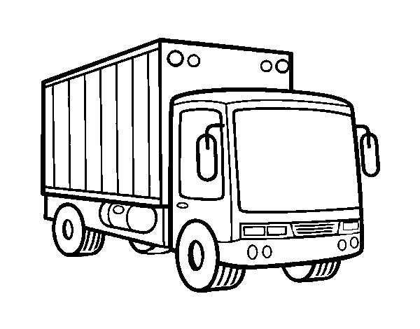 Desenho De Caminhão De Mercadoria Para Colorir