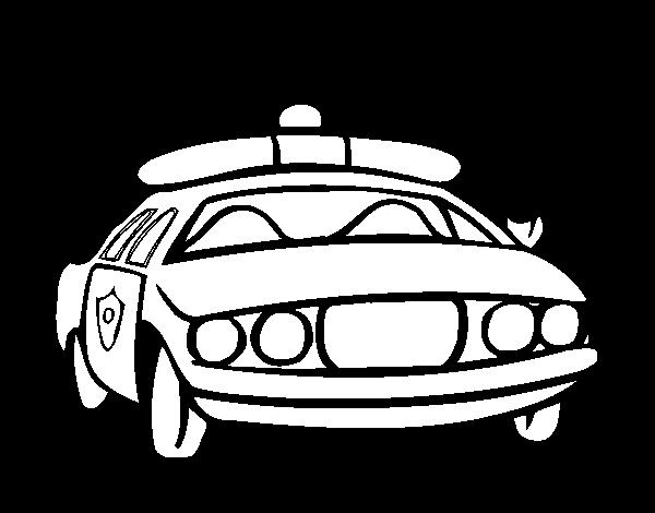 Desenho De Carro De Policia Para Colorir Colorir Com