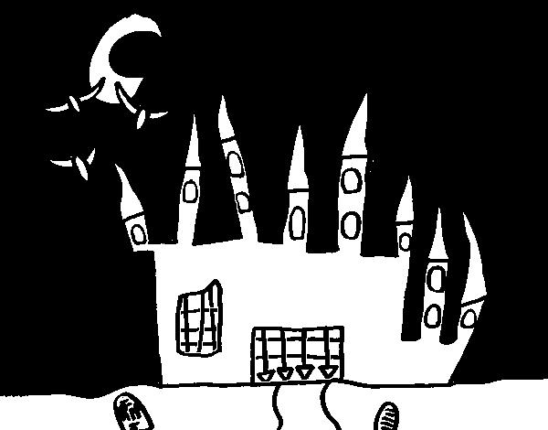 desenho de castelo do terror para colorir colorir com