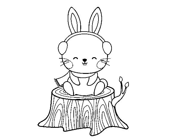 Desenho De Coelho Selvagem Protegido Para Colorir Colorir Com