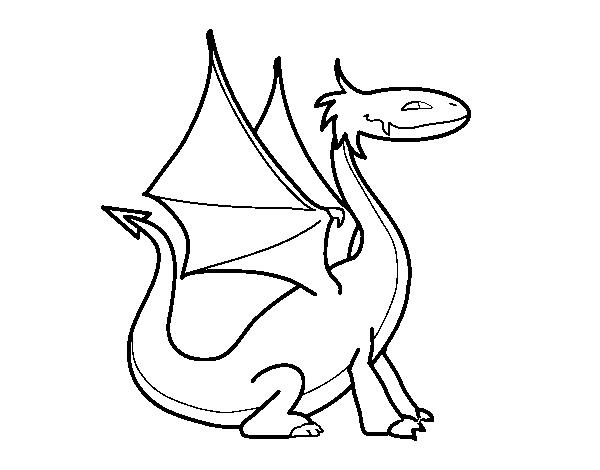 Desenho De Dragao Mitologico Para Colorir Colorir Com