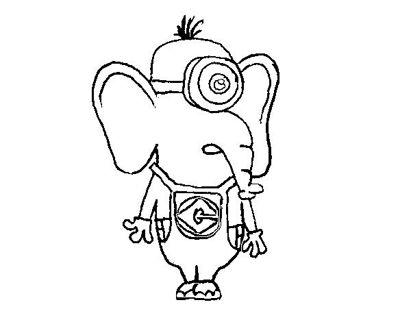 Desenho De Elefante Minion Para Colorir