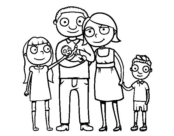 Desenho De Familia Unida Para Colorir Colorir Com