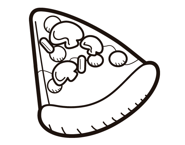 desenho de fatia de pizza para colorir colorir com