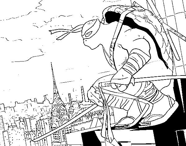 Desenho De Leonardo Ninja Turtles Para Colorir Colorir Com