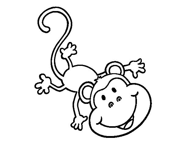 Desenho De Macaco Encantador Para Colorir Colorir Com