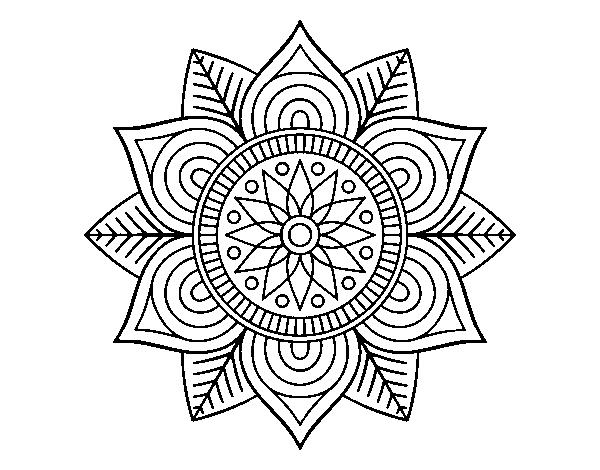 Desenho De Mandala Da Flor Da Estrela Para Colorir Colorir Com
