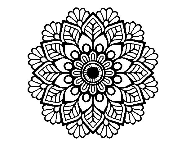 desenho de mandala da primavera para colorir colorir com
