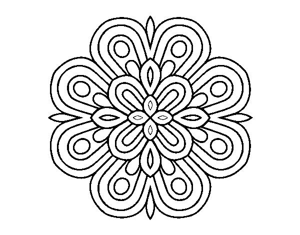 Desenho De Mandala De Arte Visual Para Colorir Colorir Com